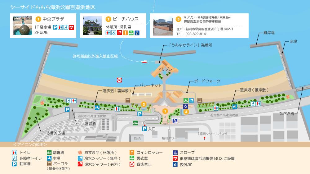 百道浜地区マップ