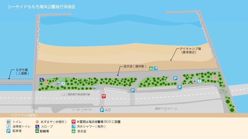 地行浜地区マップ